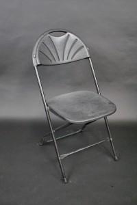 Black Fan Back Chair