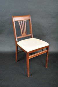 Orange County Party Rental-chair- Cherry Wood Dining Chair with Pad