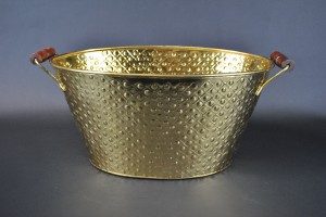 Oval Beverage Tub - Brass
