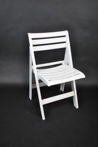 White Folding Resin Chair