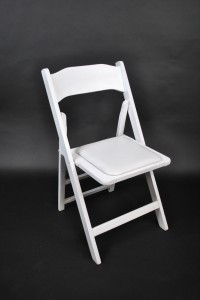 White Wood Padded Chair