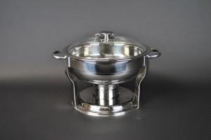 4 Qt. Round Chafing Dish, Glass Lid
