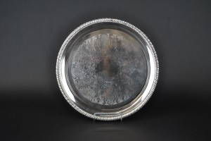 "Silver Tray - 12"" round"