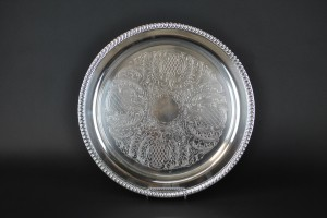 "Silver Tray- 15"" round"