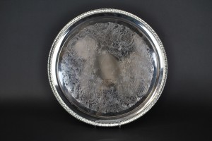 "Silver Tray - 16"" round"