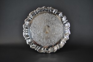 "Silver Tray - 18"" round (footed)"