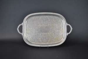 "Silver Tray - 13"" x 18"" Oval"