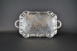 "Silver Tray -13"" x 19"" with handles"
