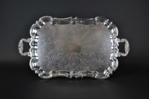 "Silver Tray 13"" x19"" (footed)"