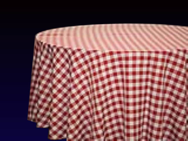 Gingham Red/White Check