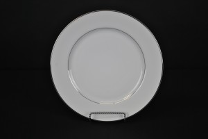 Silver Rim Salad Plate