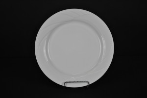 White Contemporary Dinner Plate 10.5""