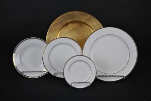 White with Gold Rim Collection