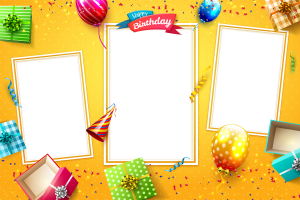Birthday Photo Strips