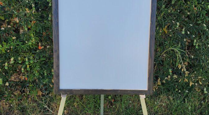whiteboard, easel, giant backyard game rental